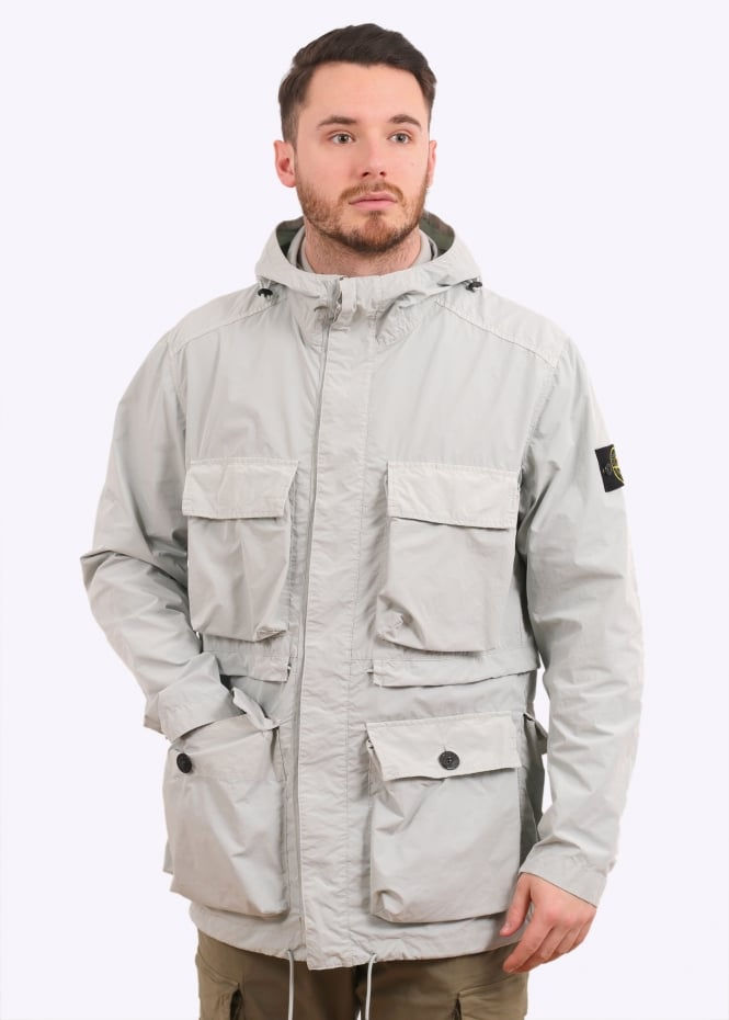 stone island david tela light tc pearl grey jackets. Black Bedroom Furniture Sets. Home Design Ideas