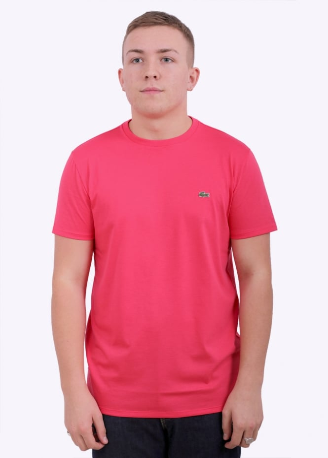 bd552c09b10d7 Lacoste Pima Cotton T-Shirt - Sirop Pink - T-shirts from Triads UK