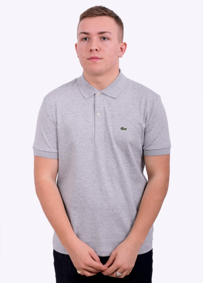 93e0ad86325 Lacoste Polo Shirt - Silver Chine - Polo Shirts from Triads UK