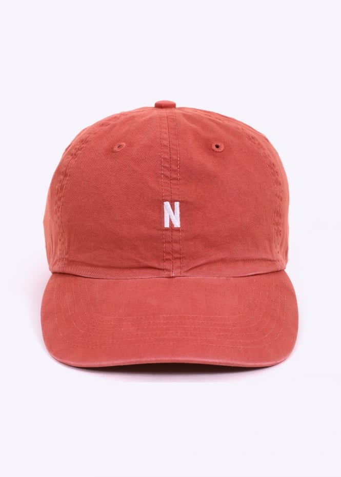 9ae4c67fb60 Norse Projects Light Twill Sports Cap - Fusion Pink - Headwear from ...