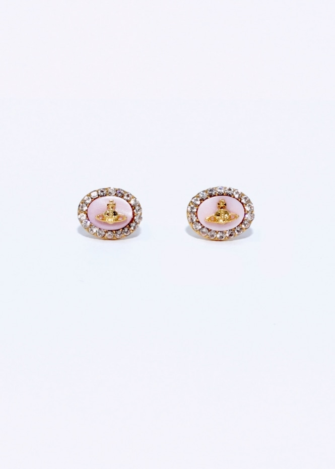 Vivienne Westwood Accessories Giselle Earrings - Pink Gold