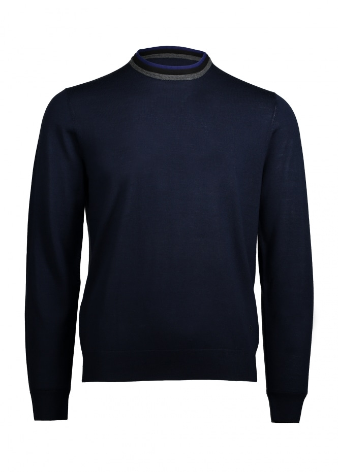 Paul Smith Trim Collar Pullover - Navy