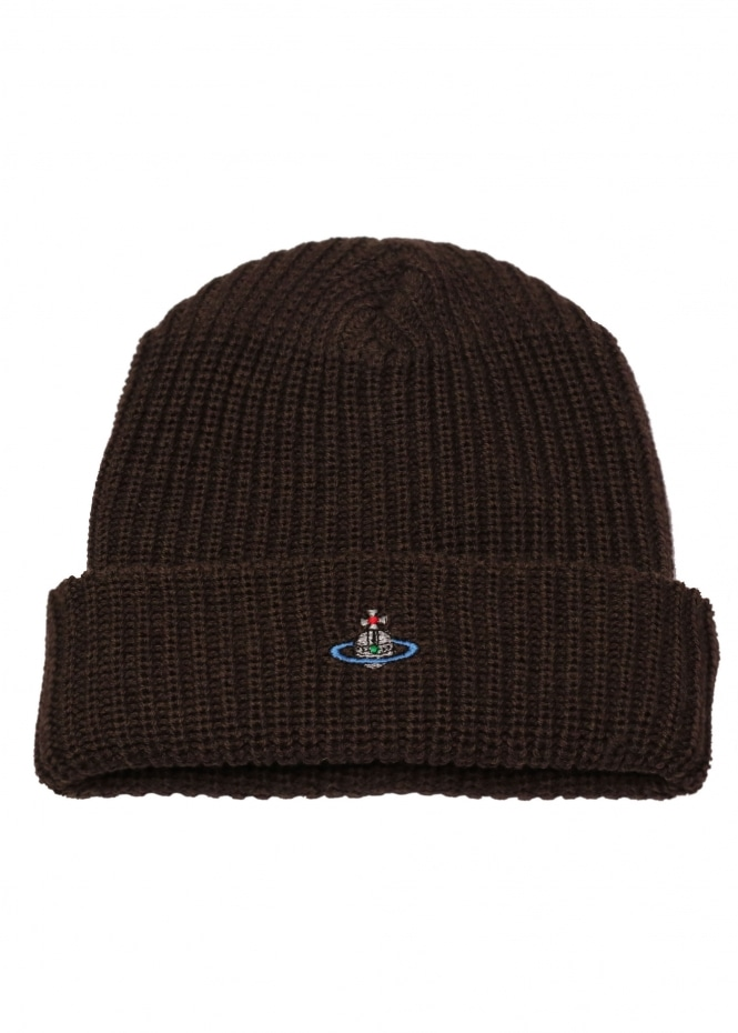 0a3f61331 Vivienne Westwood Mens Beanie Hat - Brown