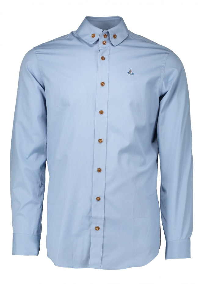 Vivienne Westwood Mens Two Button Krall Shirt - Sky