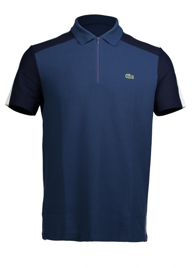 Lacoste Zip Polo - Philippines Blue