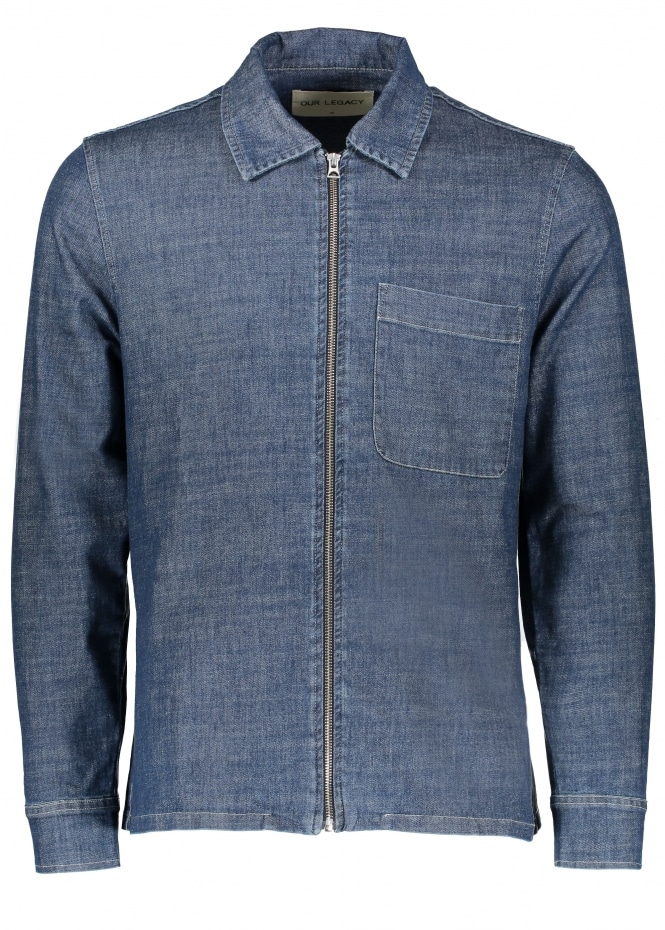 Our Legacy Drip Shirt - Blue Denim