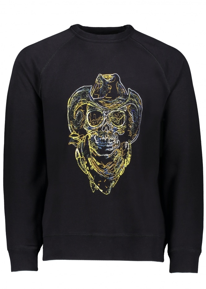 Our Legacy 50s Great Sweat Neon Skull - Black