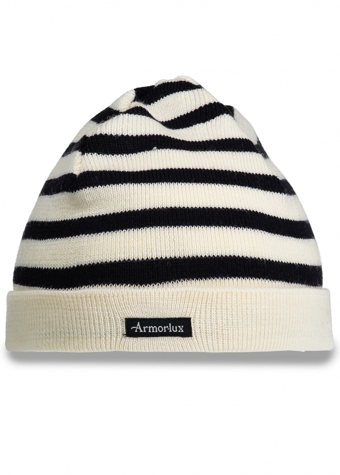 Armor Lux Striped Hat - Nature / Navy