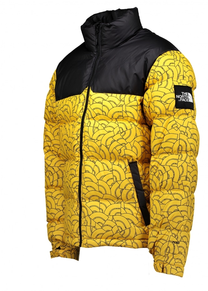 official photos fashion styles new collection north face nuptse jacket yellow