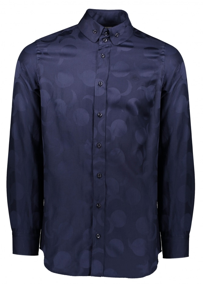 Vivienne Westwood Mens Two Button Krall Shirt - Navy