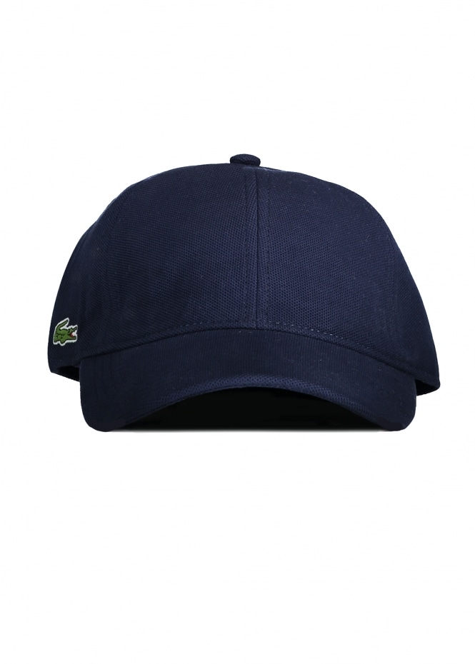 Lacoste Cotton Pique Cap - Navy - Headwear from Triads UK 03902db0fbd