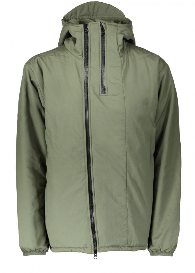 Monitaly Full Zip Insulated Jacket Popllin - Olive