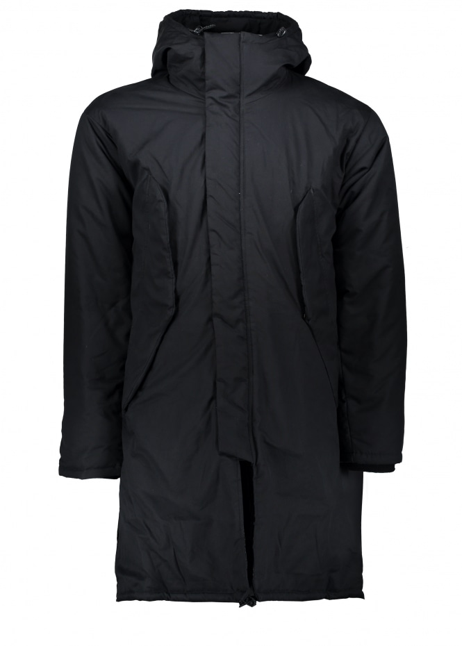Monitaly Harry Coat Poplin - Black
