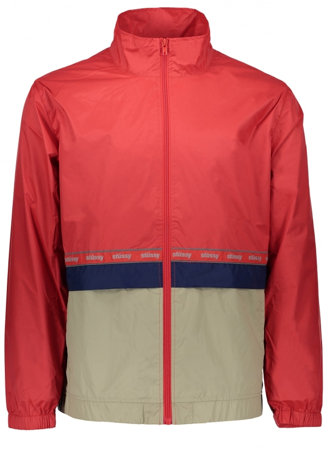 Stussy Nylon Warm Up Jacket - Red
