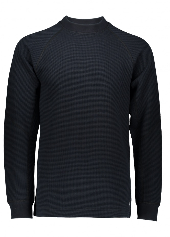 Adidas by Wings+Horns Double Waffle Knit LS Crew - Black