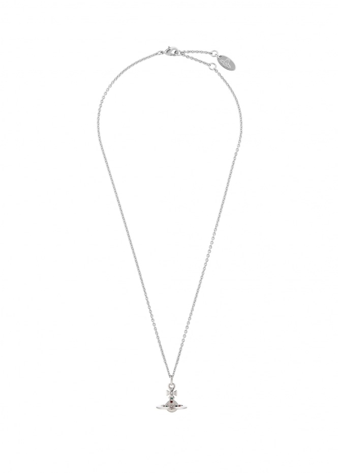Vivienne Westwood Accessories New Tiny Orb Pendant - Rhodium