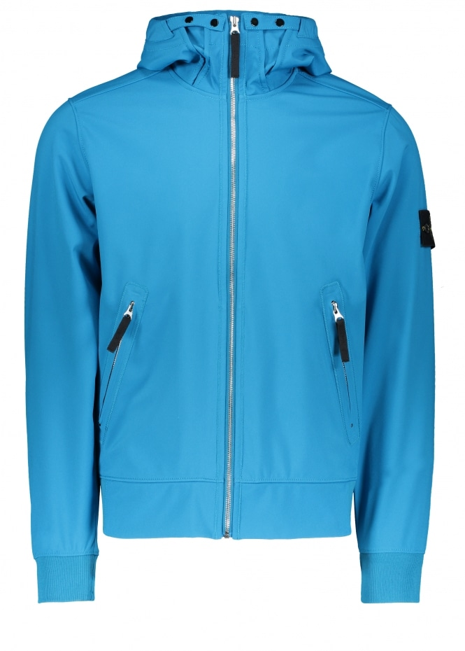 Stone Island Light Soft Shell-R Jacket - Cobalt Blue