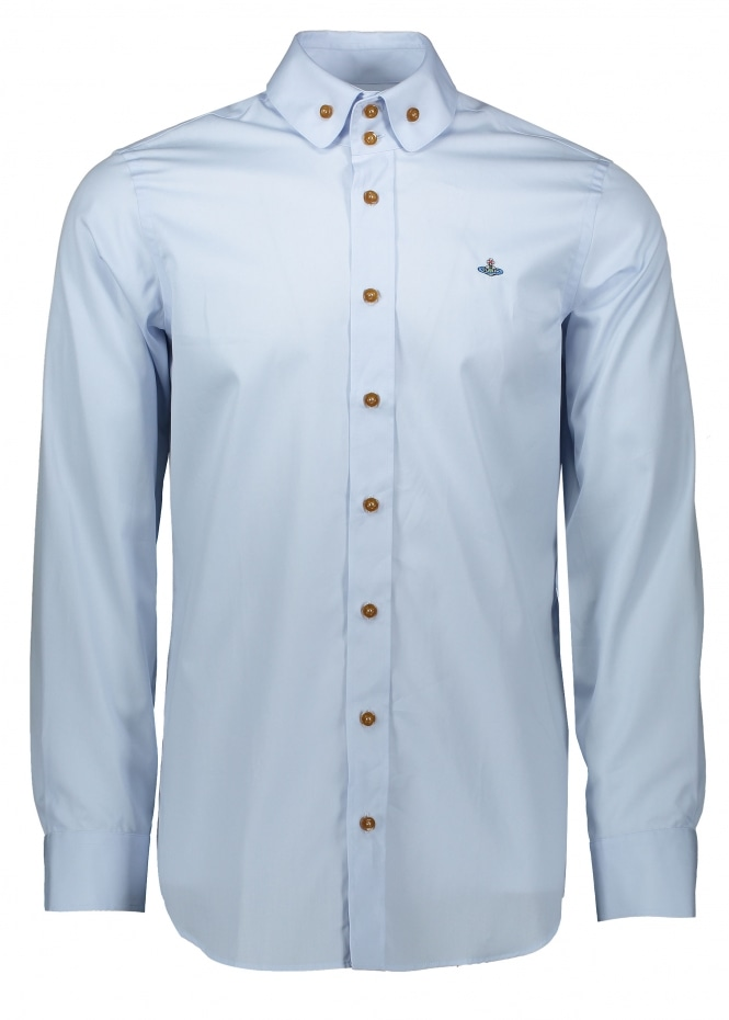 Vivienne Westwood Mens Two Button Krall Shirt - Light Blue