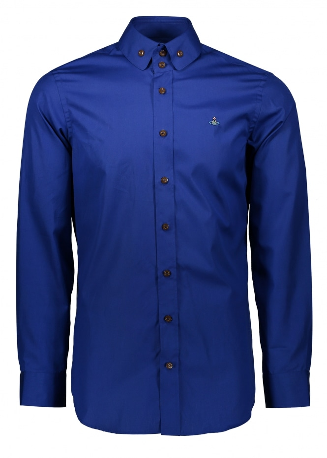 Vivienne Westwood Mens Two Button Krall Shirt - Royal Blue