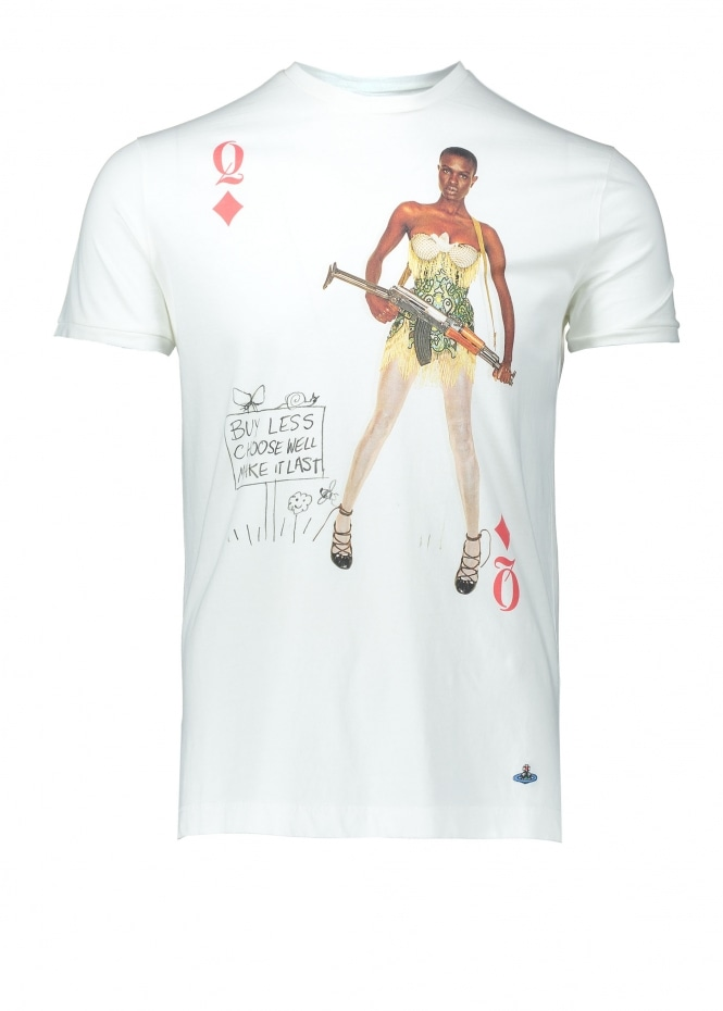 Vivienne Westwood Mens Graphic Tee - Off White