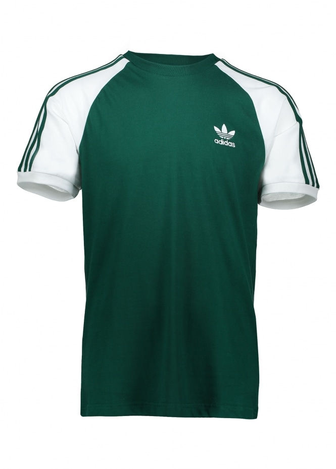 Adidas Originals Apparel 3 Stripes Tee - Collegiate Green