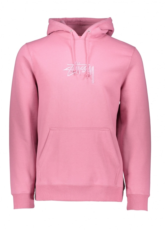Stussy Stock Applique Hood - Orchid