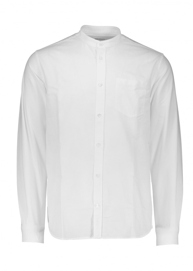 Norse Projects Hans Collarless Oxford - White