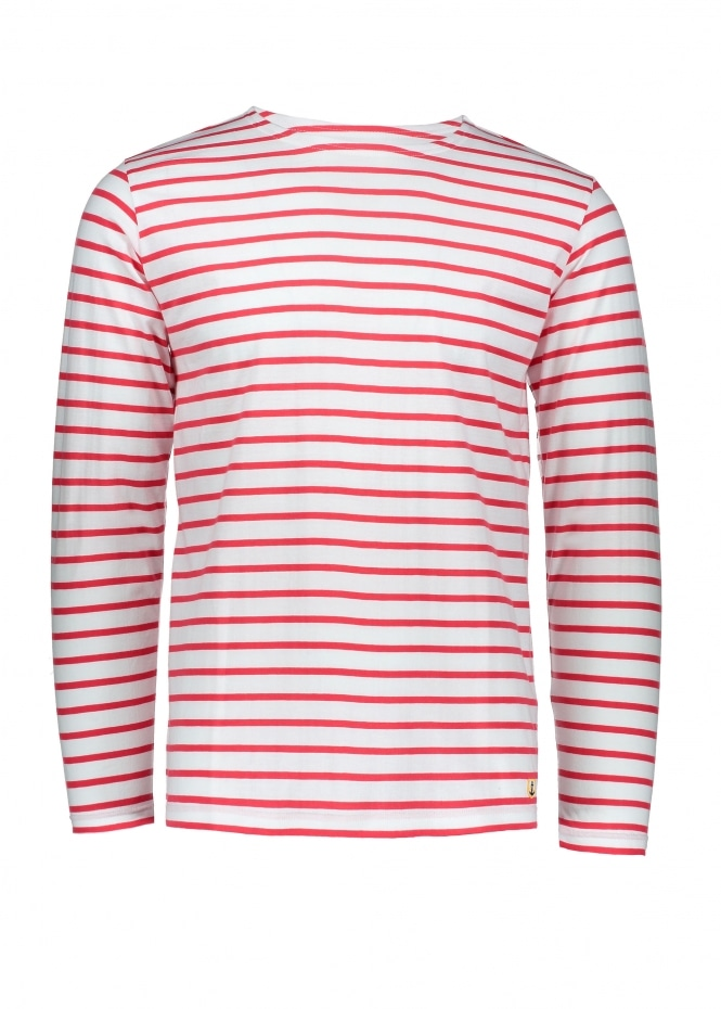 Armor Lux Sailor Shirt LS - Milk/Dark Red