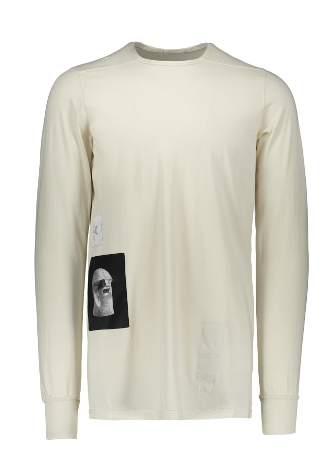 Rick Owens Drkshdw LS Level Tee - Natural