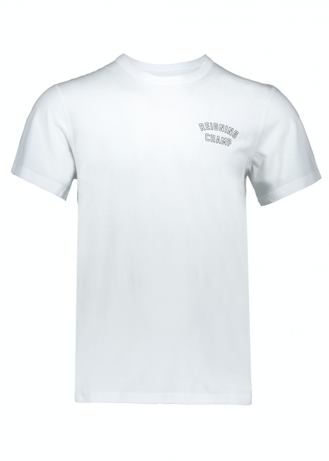 Reigning Champ Varsity T-Shirt - White/Black