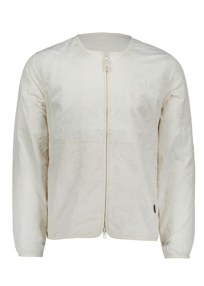 Folk Collarless Nylon Jacket - Ecru