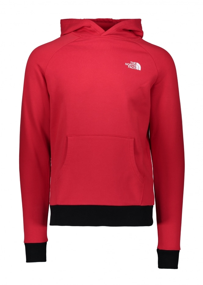 The North Face Raglan Red Box Hoodie - Red