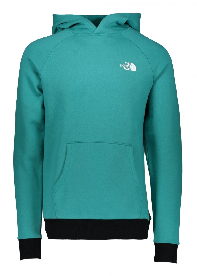 The North Face Raglan Red Box Hoodie - Porcelain Green