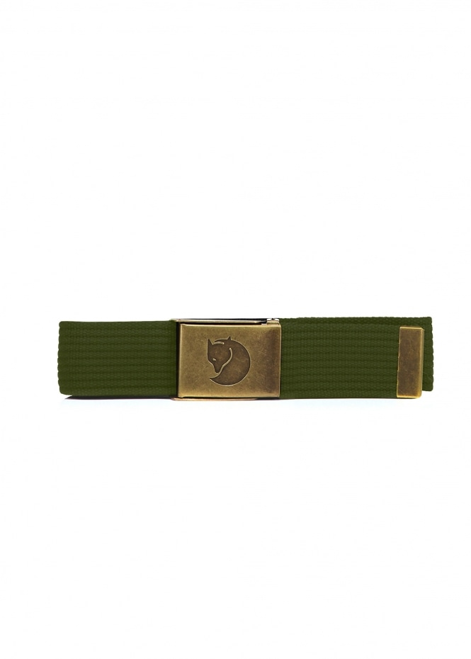 Fjallraven Canvas Brass Belt 4cm - Dark Olive