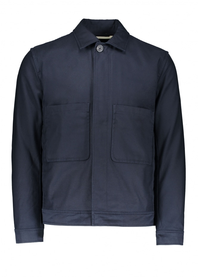 Norse Projects Tyge Broken Twill Jacket - Dark Navy