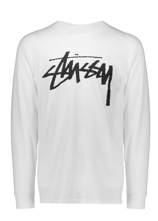 Stussy Old Stock LS Tee - White