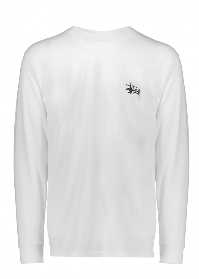 Stussy Pin Up LS Tee White