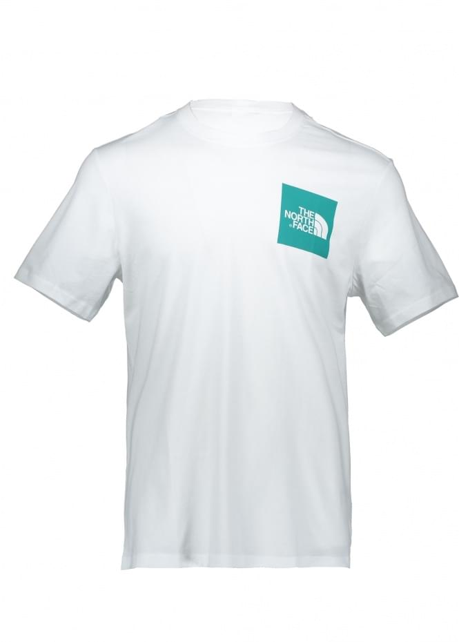 The North Face SS Fine Tee - White / Porcelain Green