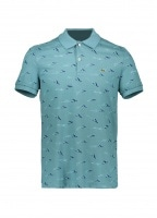 67d631b96 Lacoste Airplane Print Polo - Tide Blue - Polo Shirts from Triads UK