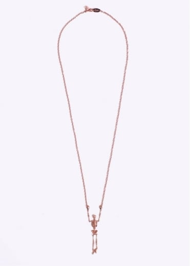 Vivienne Westwood Jewellery Skeleton Long Necklace - Pink / Gold