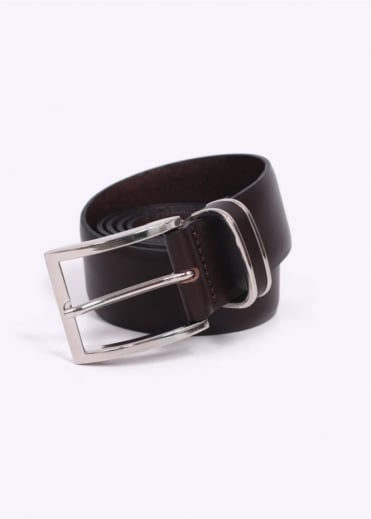 / Boss Black - Froppin Leather Belt - Dark Brown