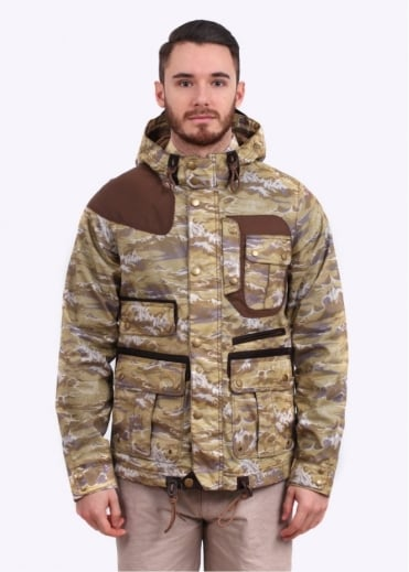 x White Mountaineering Wave Mountain Parka - Stone Wave Print