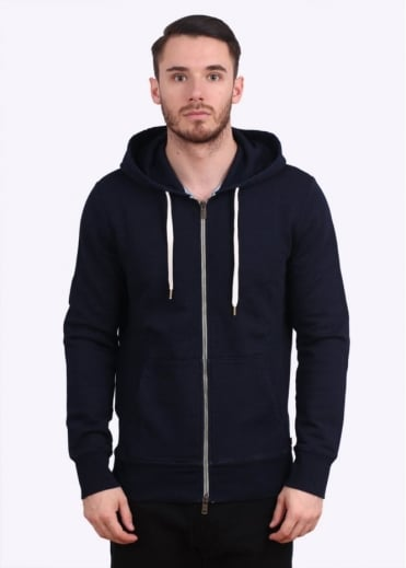 Original Zip Up Hoody - Indigo