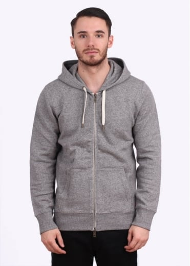 Original Zip Up Hoody - Medium Grey