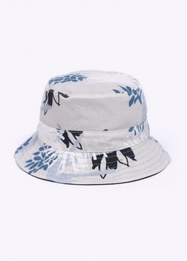 Reversible Flower Bucket Hat - Navy