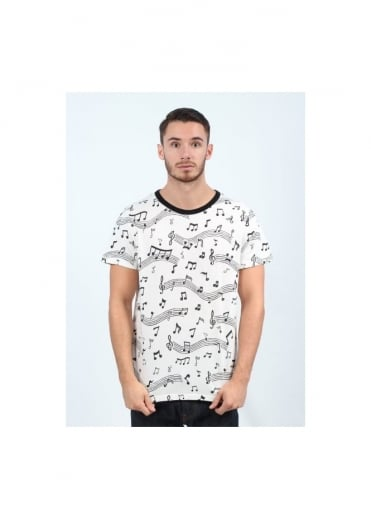 Graphic Note Tee - Multi-Coloured