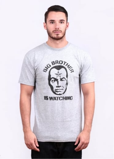 Big Brother Watching Tee - Heather Grey