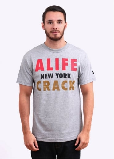 NY Crack Tee - Heather Grey