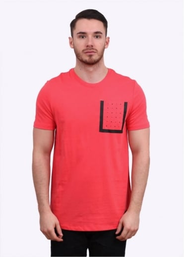 Bonded Pocket Tee - Rio Red