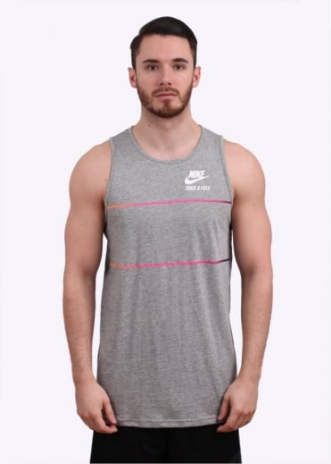 T/F Elongated Tank Top - Dark Grey